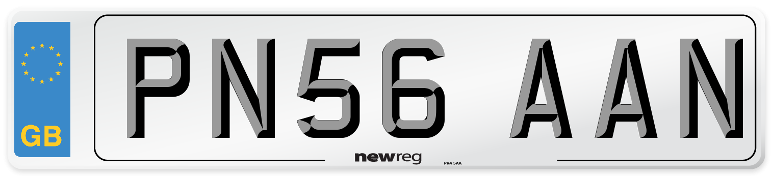 PN56 AAN Number Plate from New Reg