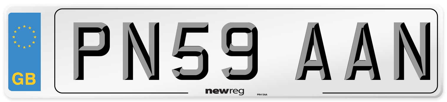 PN59 AAN Number Plate from New Reg