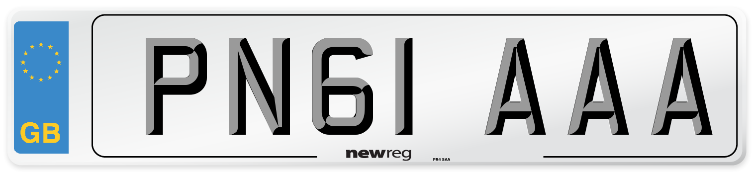 PN61 AAA Number Plate from New Reg