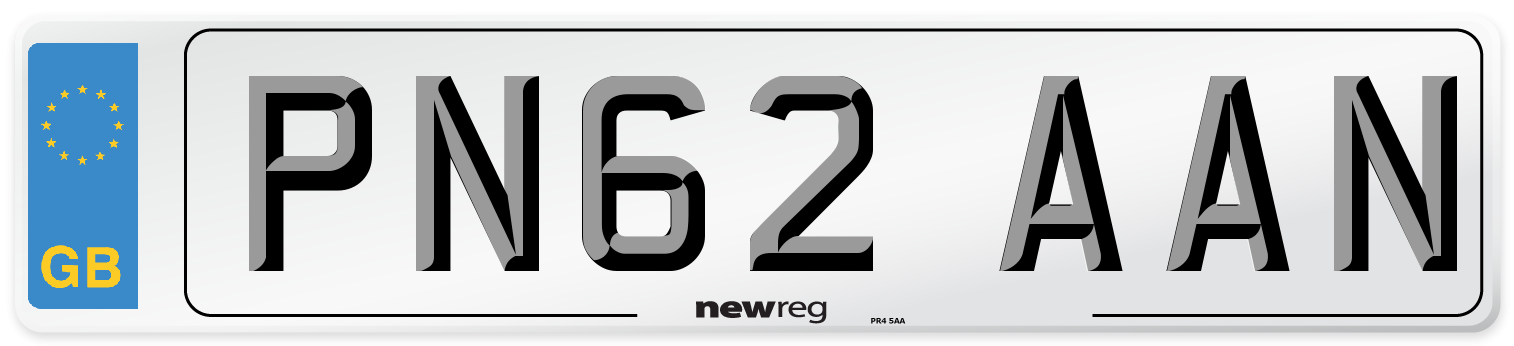 PN62 AAN Number Plate from New Reg