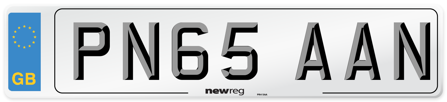 PN65 AAN Number Plate from New Reg
