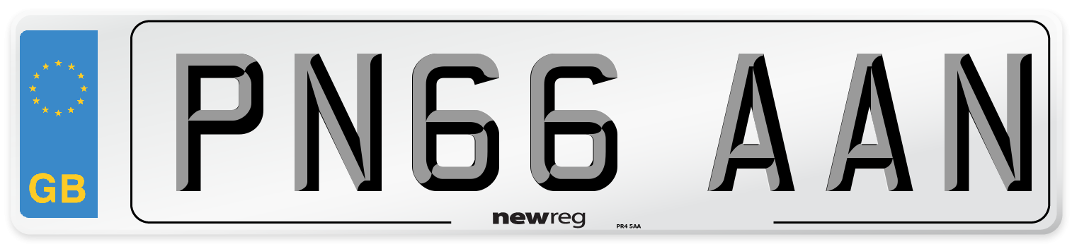 PN66 AAN Number Plate from New Reg