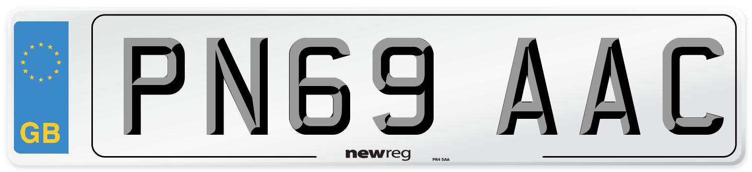 PN69 AAC Number Plate from New Reg