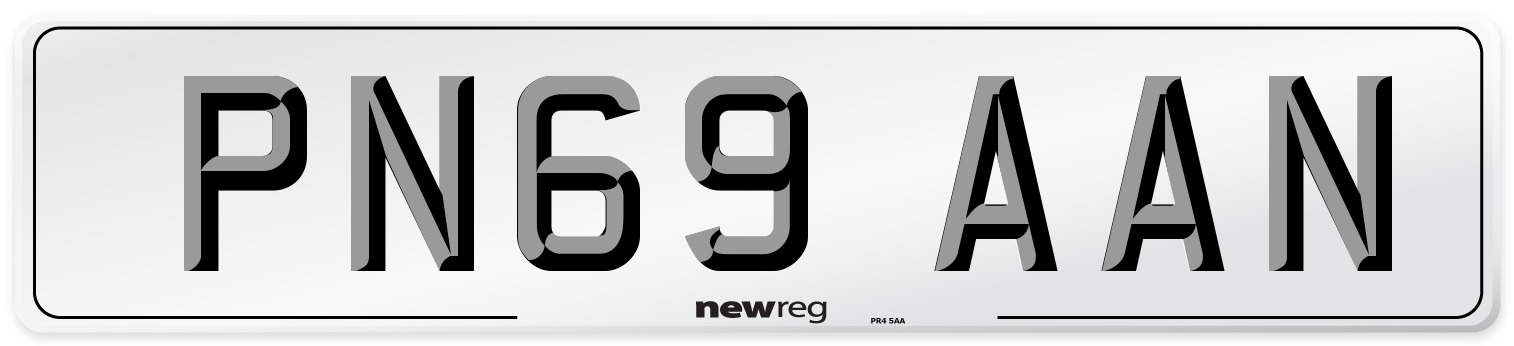 PN69 AAN Number Plate from New Reg