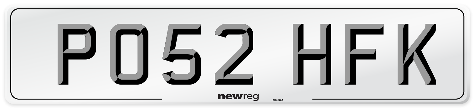 PO52 HFK Number Plate from New Reg