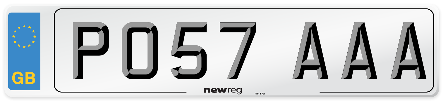 PO57 AAA Number Plate from New Reg