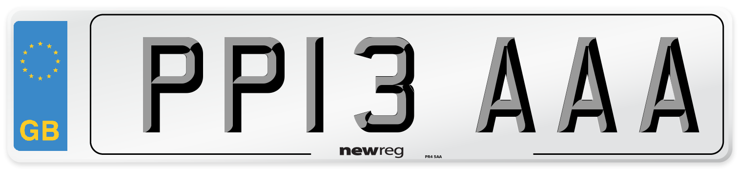 PP13 AAA Number Plate from New Reg