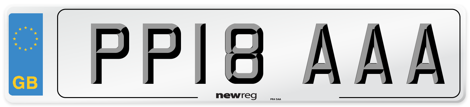 PP18 AAA Number Plate from New Reg