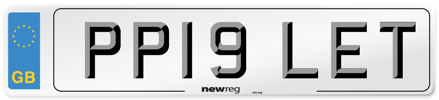 PP19 LET Number Plate from New Reg
