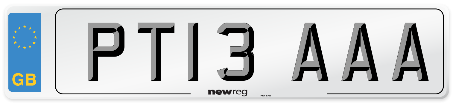 PT13 AAA Number Plate from New Reg