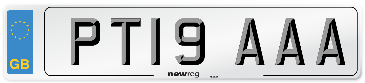 PT19 AAA Number Plate from New Reg