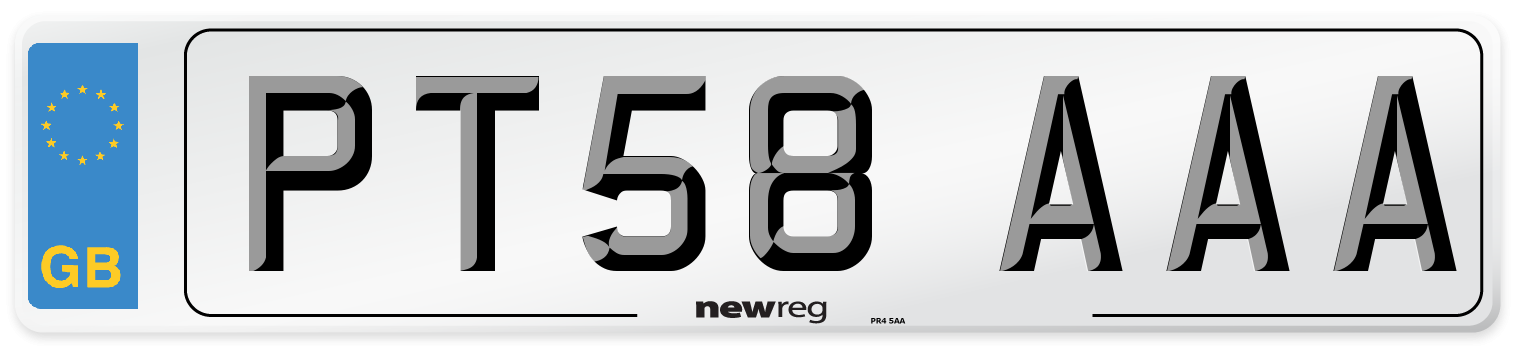 PT58 AAA Number Plate from New Reg