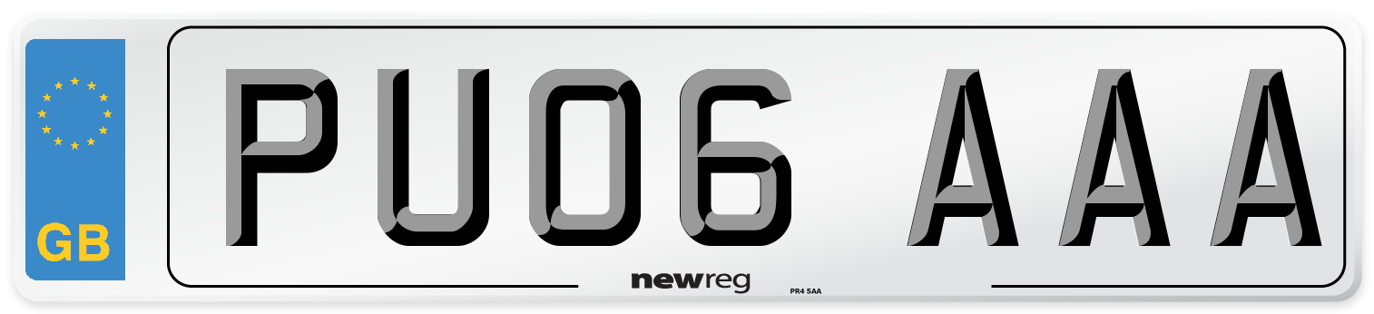 PU06 AAA Number Plate from New Reg
