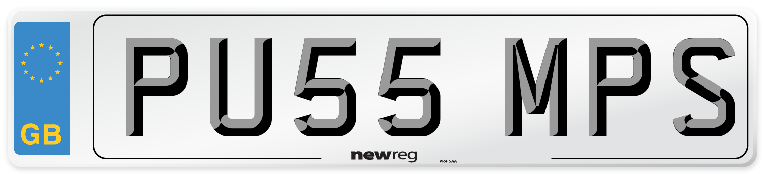 PU55 MPS Number Plate from New Reg