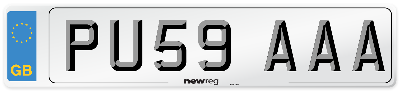 PU59 AAA Number Plate from New Reg