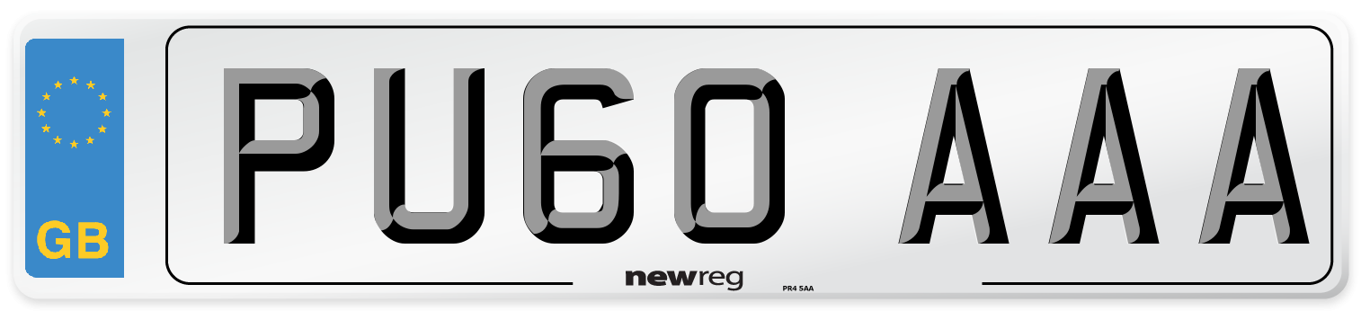 PU60 AAA Number Plate from New Reg