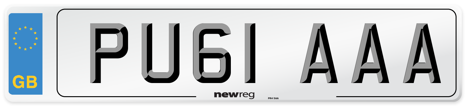 PU61 AAA Number Plate from New Reg