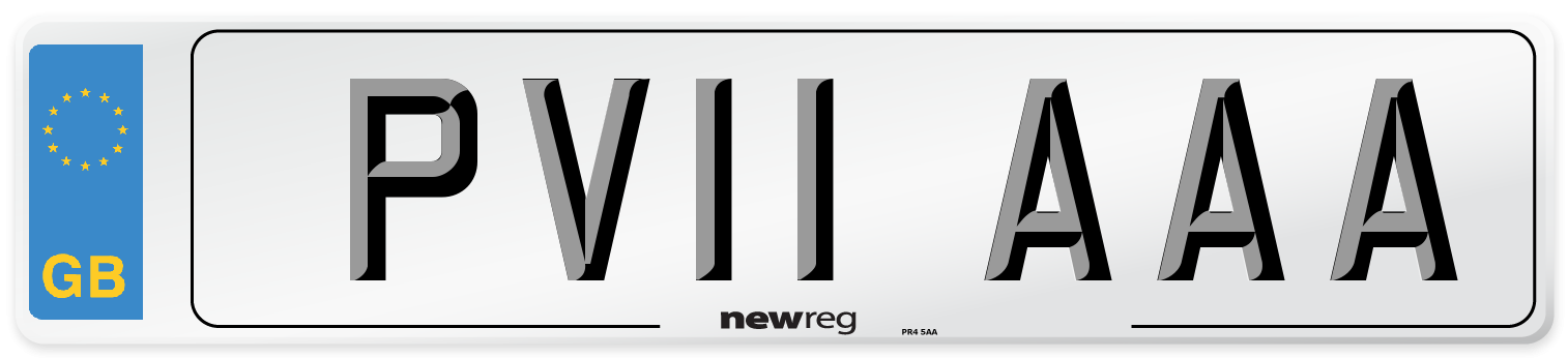 PV11 AAA Number Plate from New Reg