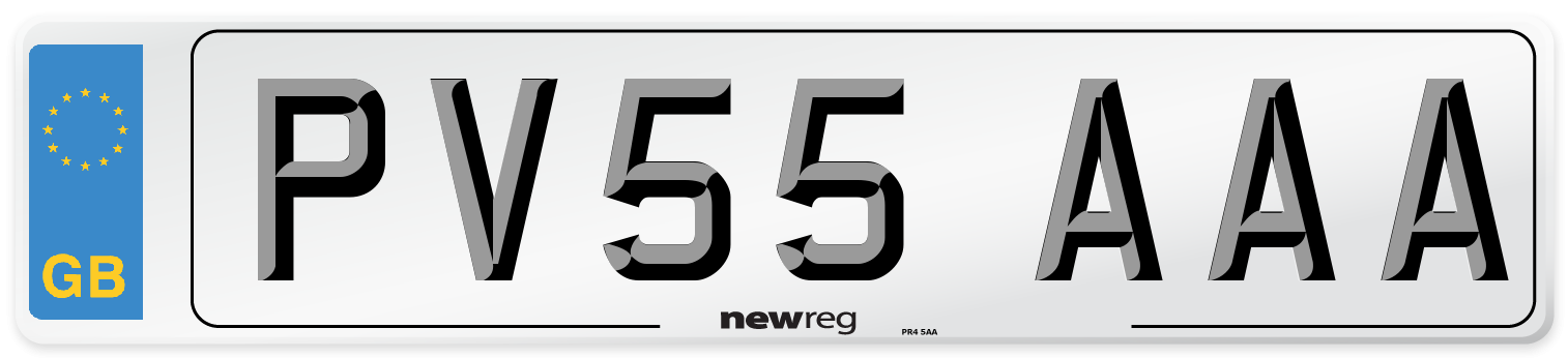 PV55 AAA Number Plate from New Reg