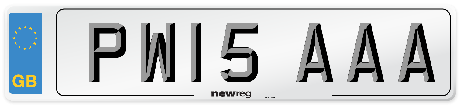 PW15 AAA Number Plate from New Reg