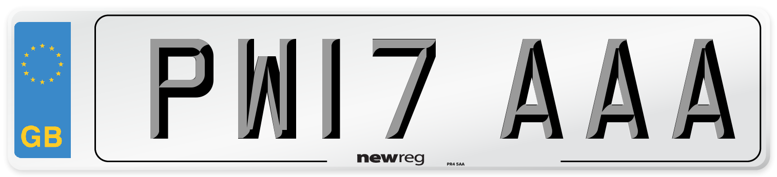 PW17 AAA Number Plate from New Reg