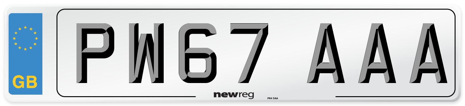 PW67 AAA Number Plate from New Reg