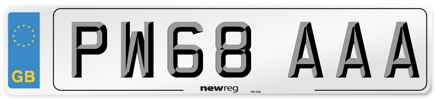 PW68 AAA Number Plate from New Reg
