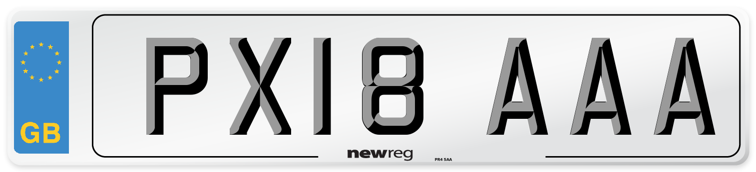 PX18 AAA Number Plate from New Reg