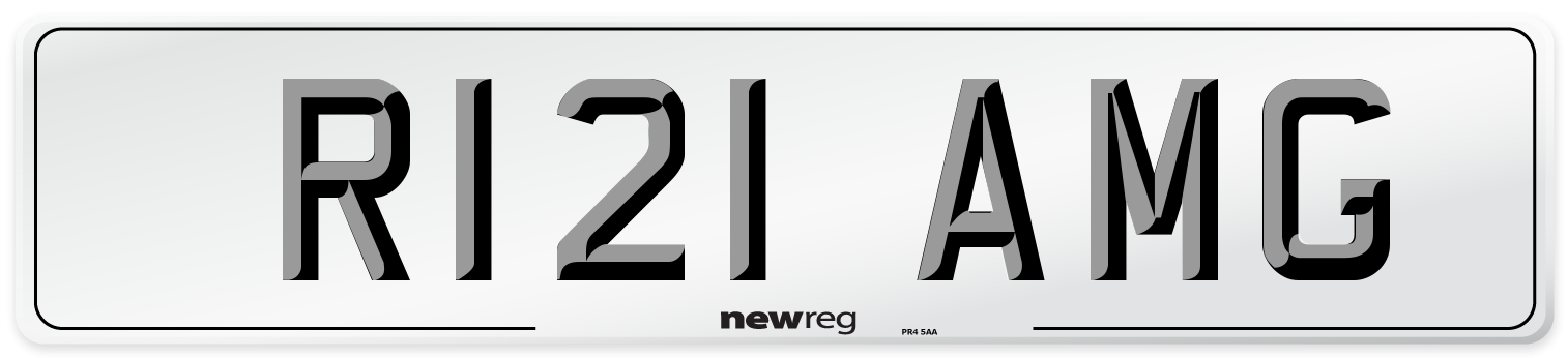 R121 AMG Number Plate from New Reg