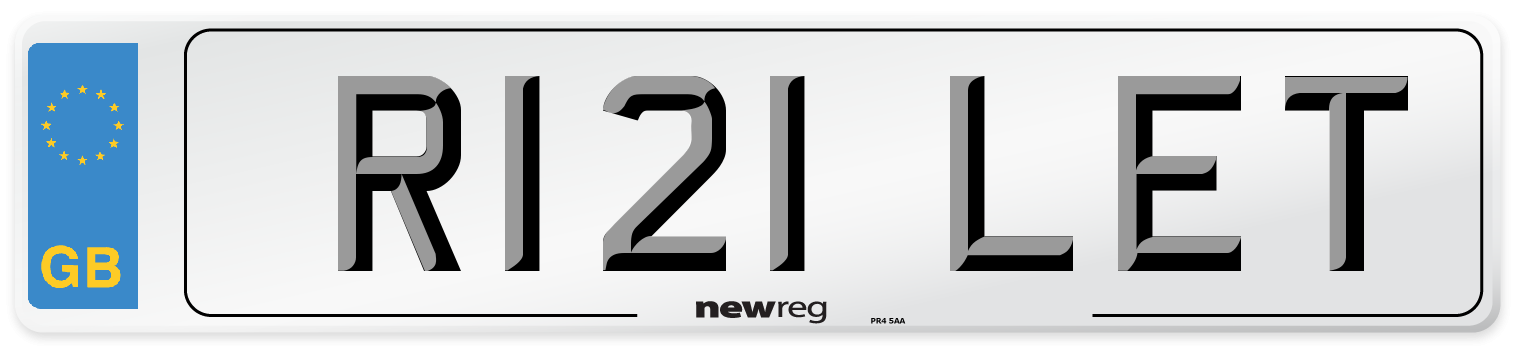 R121 LET Number Plate from New Reg