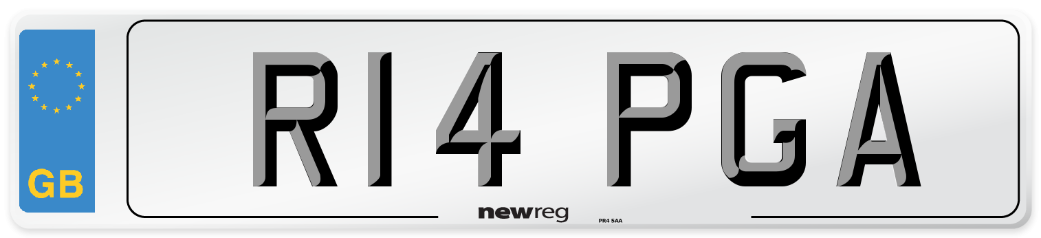 R14 PGA Number Plate from New Reg