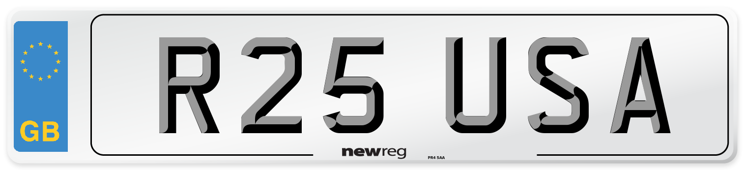 R25 USA Number Plate from New Reg