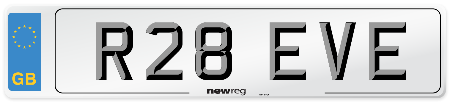 R28 EVE Number Plate from New Reg