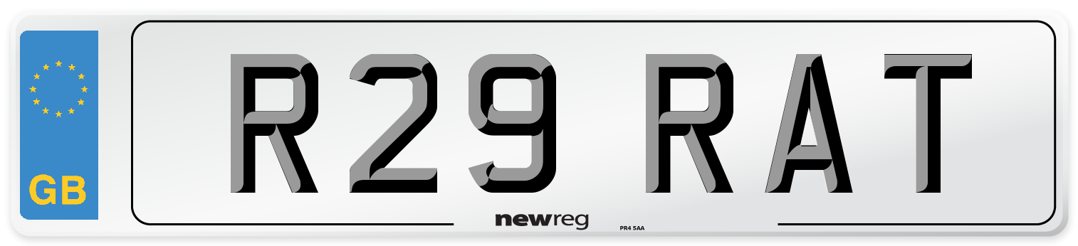 R29 RAT Number Plate from New Reg