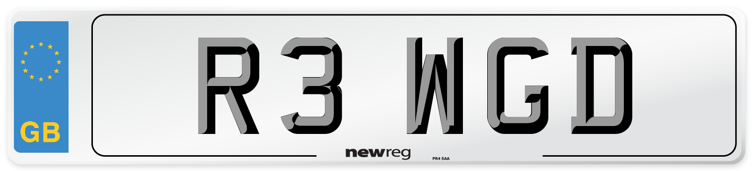 R3 WGD Number Plate from New Reg