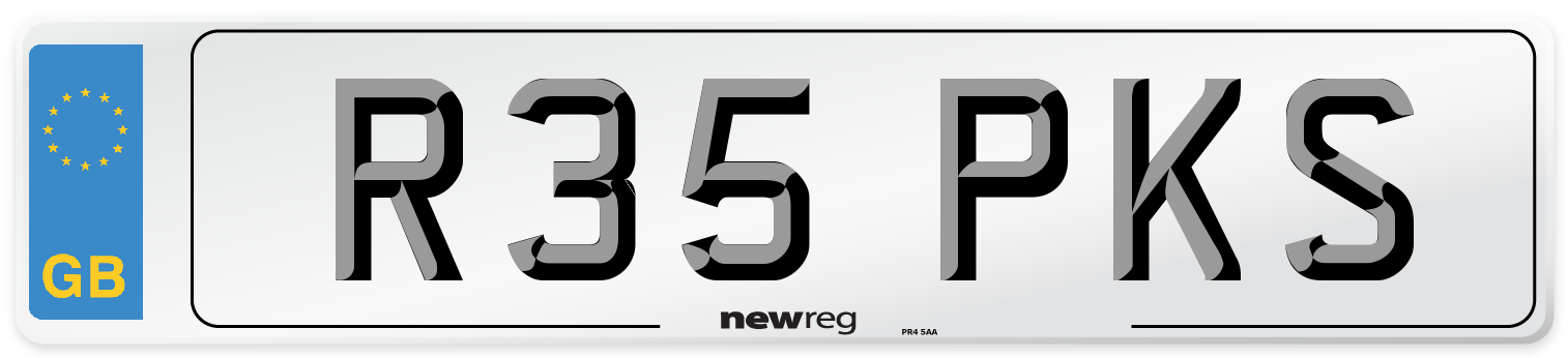 R35 PKS Number Plate from New Reg