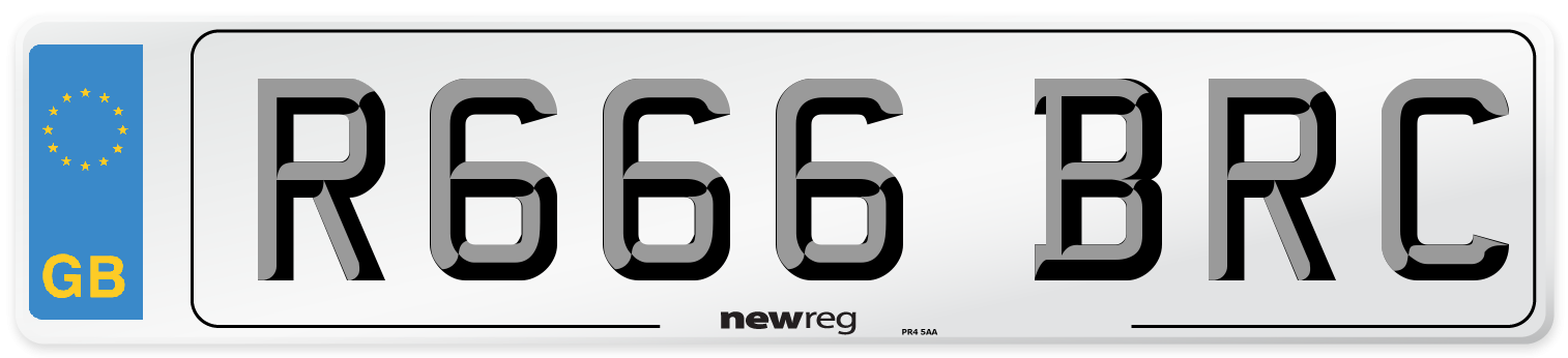 R666 BRC Number Plate from New Reg