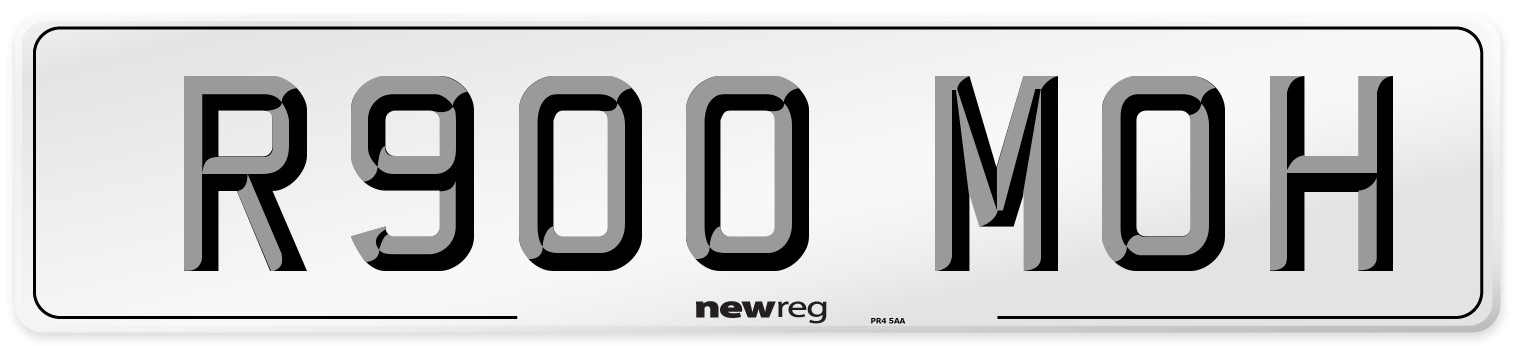 R900 MOH Number Plate from New Reg