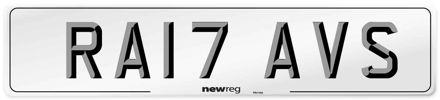 RA17 AVS Number Plate from New Reg