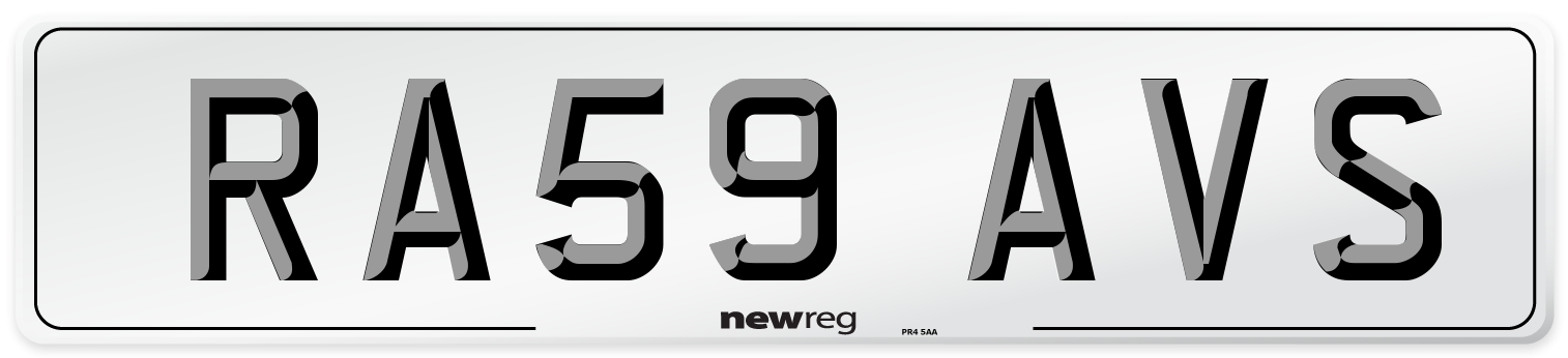 RA59 AVS Number Plate from New Reg