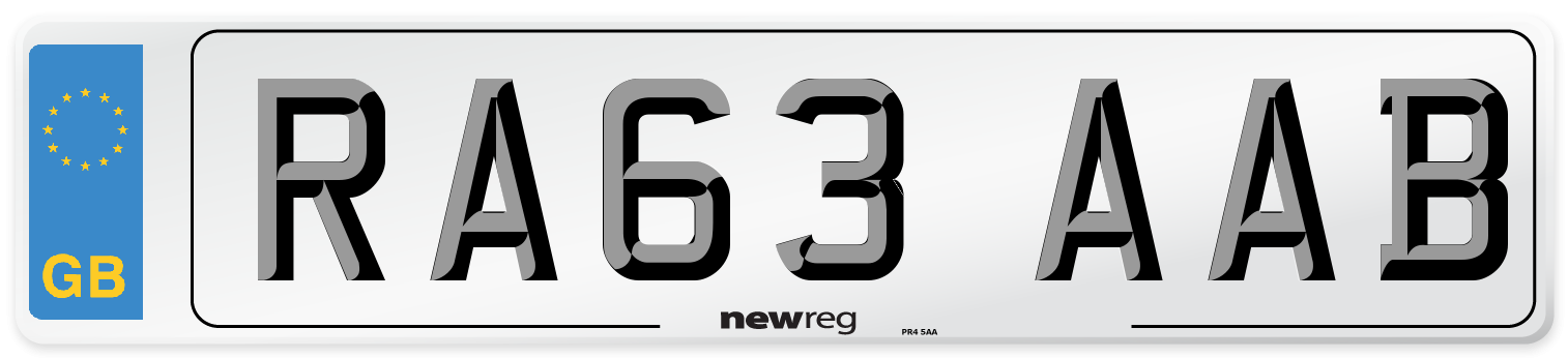 RA63 AAB Number Plate from New Reg