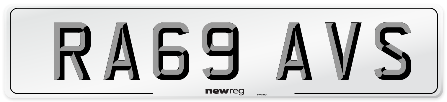 RA69 AVS Number Plate from New Reg