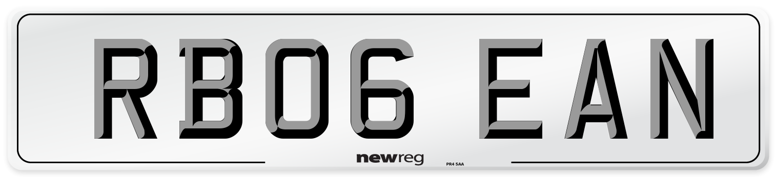 RB06 EAN Number Plate from New Reg
