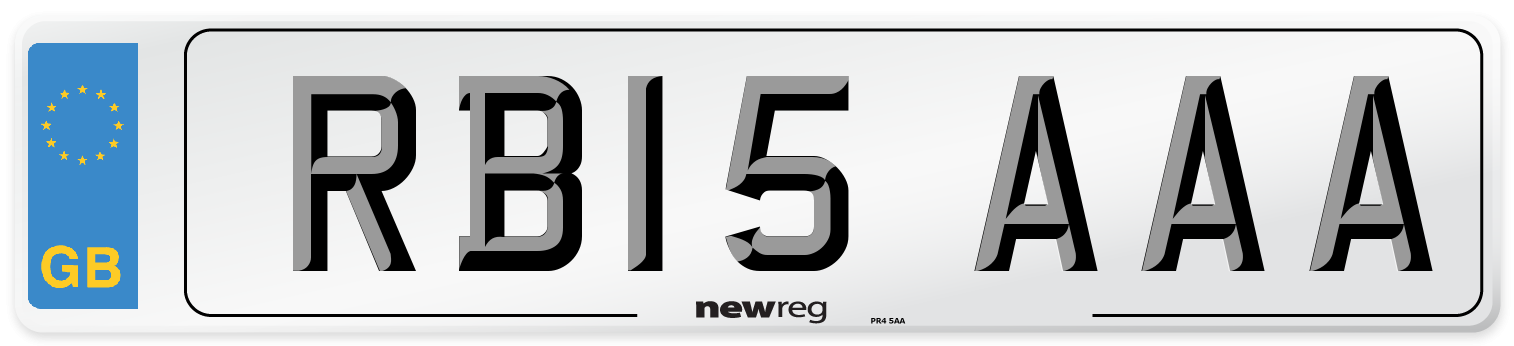 RB15 AAA Number Plate from New Reg