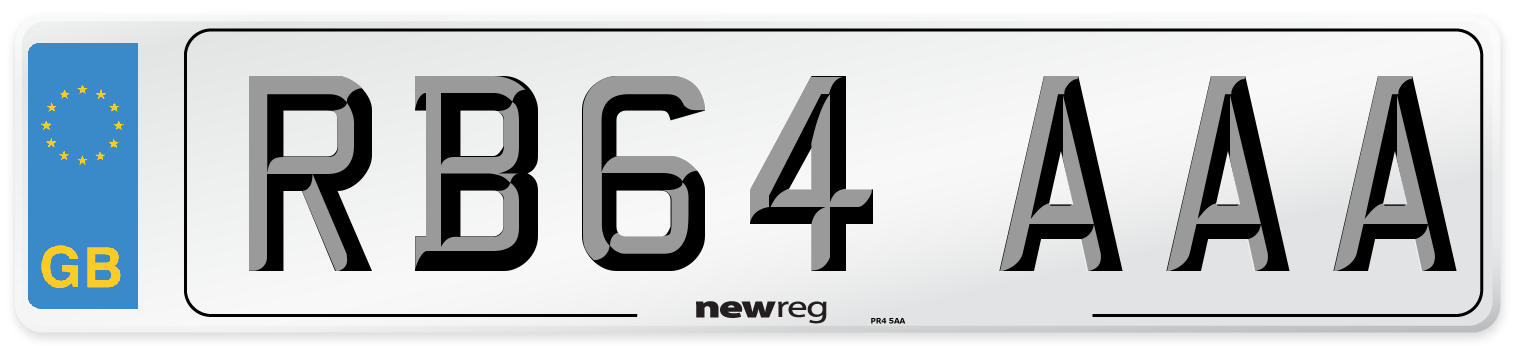 RB64 AAA Number Plate from New Reg