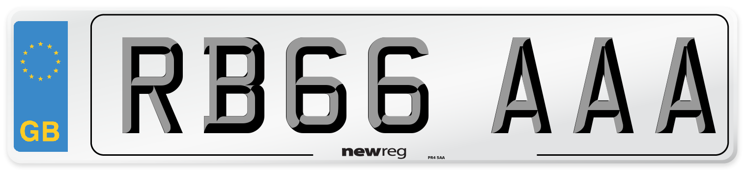 RB66 AAA Number Plate from New Reg