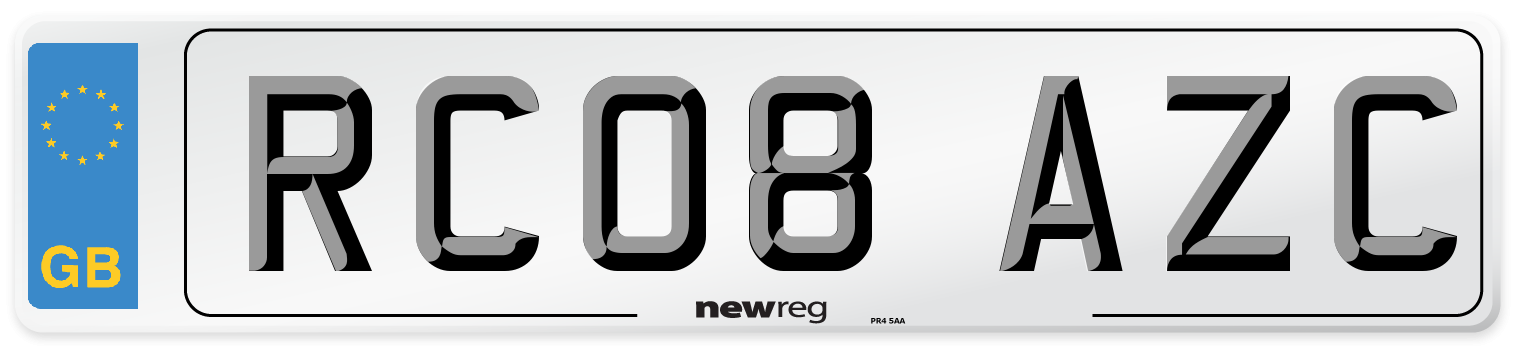 RC08 AZC Number Plate from New Reg