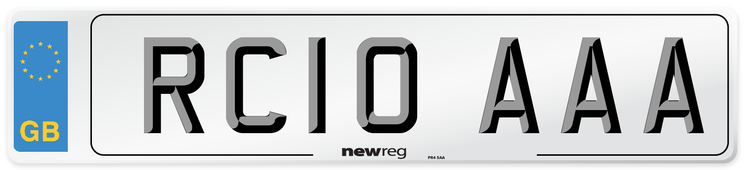 RC10 AAA Number Plate from New Reg