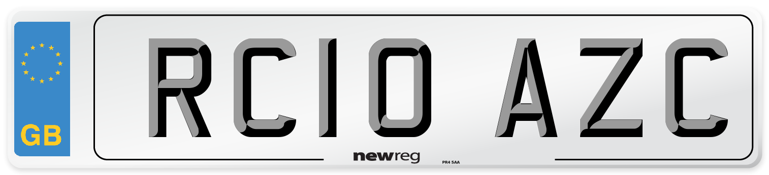 RC10 AZC Number Plate from New Reg