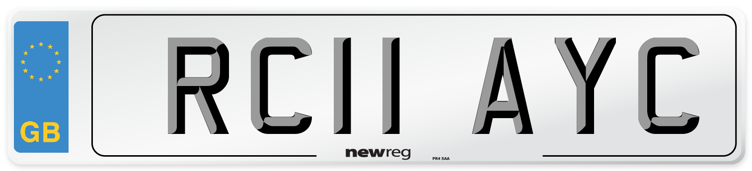 RC11 AYC Number Plate from New Reg